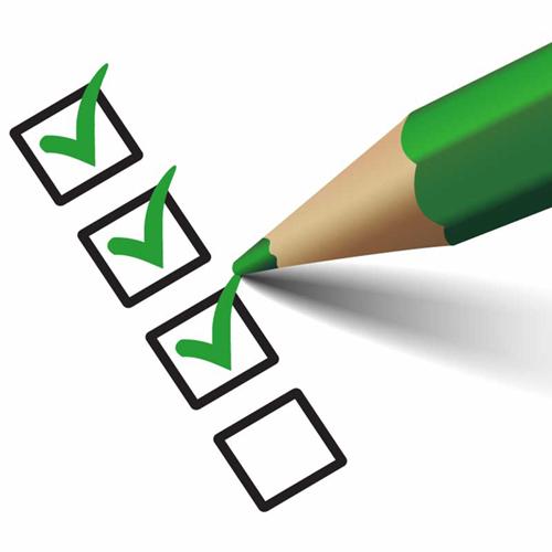 Checkliste zur Vorbereitung